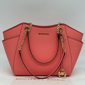 Michael Kors Large Chain Shoulder Tote Bag
